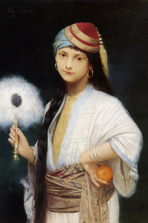 Jules Joseph Lefebvre The Feathered Fan Wandbild