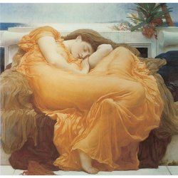 Frederic-Leighton-Flaming-June