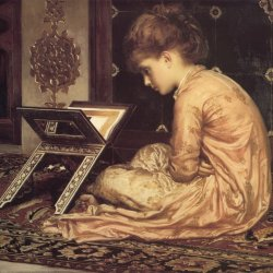 Frederic-Leighton-Study-at-a-reading-desk