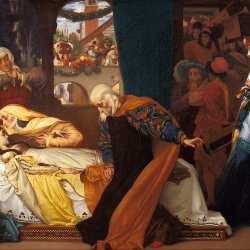 Frederic-Leighton-The-feigned-death-of-Juliet