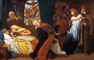 Frederic Leighton The feigned death of Juliet