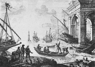 Claude Lorrain Der Hafen mit der Halle Wandbilder