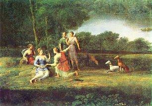 Claude Lorrain Egeria beweint Numa Wandbilder