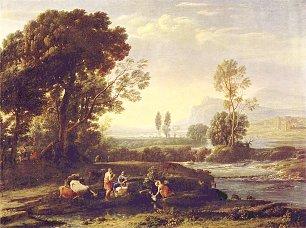 Claude Lorrain Landschaft mit der Flucht nach Aegypten Wandbilder
