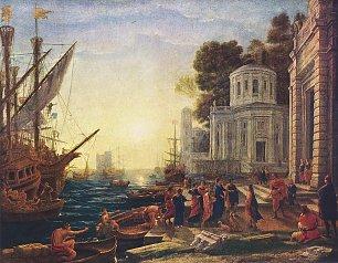 Claude Lorrain Landung der Kleopatra in Tarsos Wandbilder