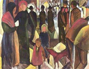 August Macke Abschied Wandbilder