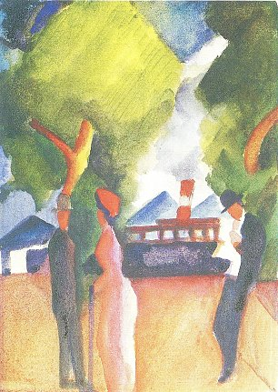 August Macke An der Landungsbruecke in Thun