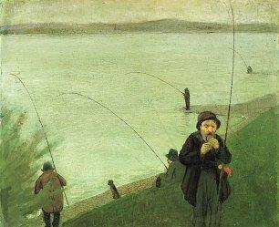 August Macke Angler am Rhein Wandbilder
