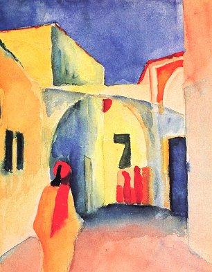 August Macke Blick in eine Gasse Wandbilder