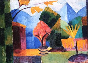 August Macke Garten am Thuner See Wandbild