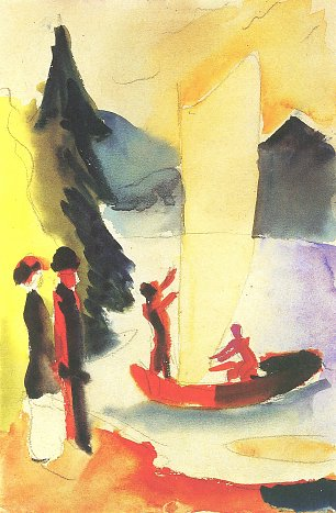 August Macke Gelbes Segel