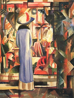 August Macke Grosses helles Schaufenster Wandbild