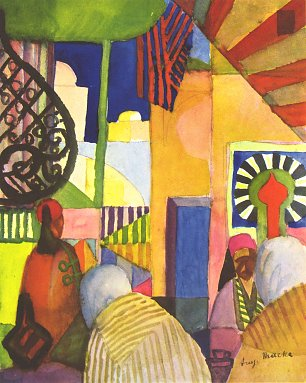 August Macke Im Basar