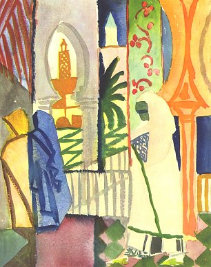 August Macke In der Tempelhalle 2
