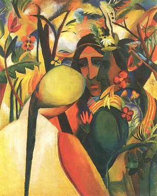 August Macke Indianer Wandbild