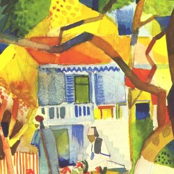 August-Macke-Innenhof-des-Landhauses-St-Germain