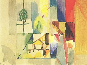 August Macke Kinder am Gemueseladen 2 Wandbild
