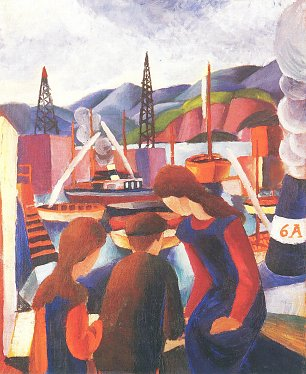August Macke Kinder am Hafen 1 Wandbild