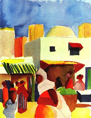 August Macke Markt in Algier