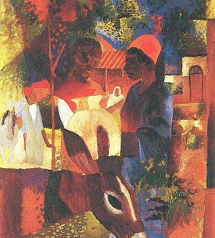 August Macke Markt in Tunis Wandbild