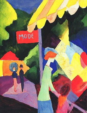 August Macke Modefenster Wandbild