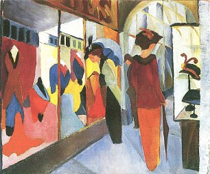 August Macke Modegeschaeft Wandbild