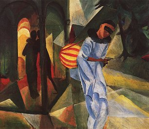 August Macke Pierrot Wandbild