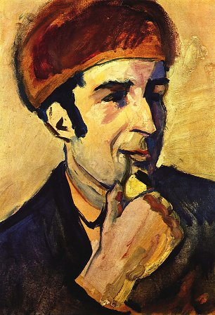August Macke Portrait des Franz Marc