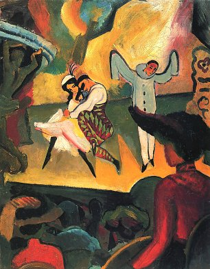 August Macke Russisches Ballett 1 Wandbild