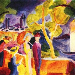 August-Macke-Spaziergaenger-am-See