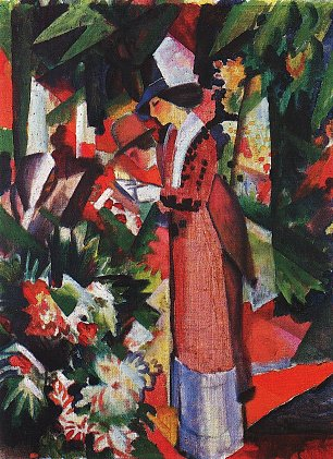 August Macke Spaziergang in Blumen