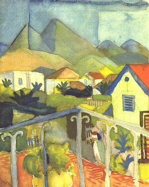 August Macke St Germain bei Tunis Wandbild