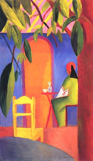 August Macke Tuerkisches Cafe 3 Wandbild