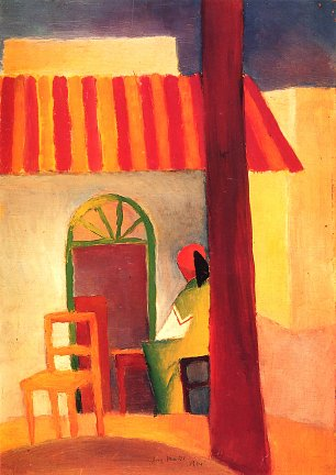 August Macke Tuerkisches Cafe Wandbild