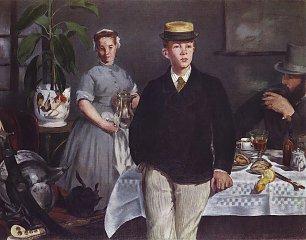 Edouard Manet Fruehstueck im Atelier Wandbilder