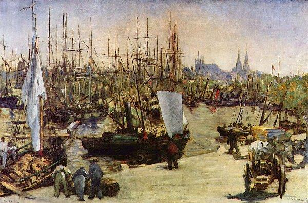 Edouard Manet Hafen von Bordeaux
