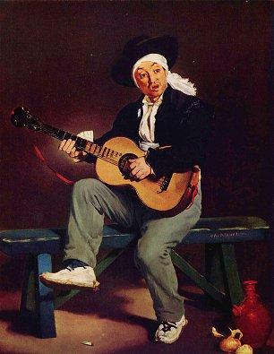 Edouard Manet Spanischer Saenger Wandbilder
