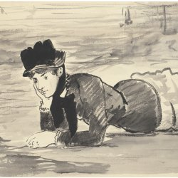 Edouard-Manet-Woman-Lying-on-the-Beach.-Annabel-Lee