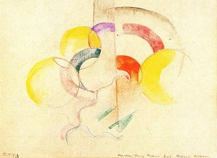 Franz Marc Abstraktes Aquarell 2