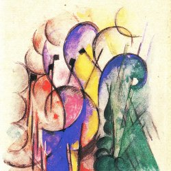 Franz-Marc-Abstraktes-Aquarell