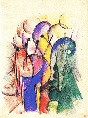 Franz Marc Abstraktes Aquarell