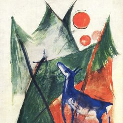 Franz-Marc-Blaues-Reh-in-Landschaft