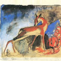 Franz-Marc-Rotes-Reh