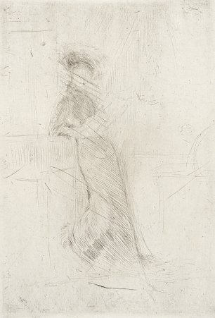 James McNeil Whistler A Lady at a Window Wandbild