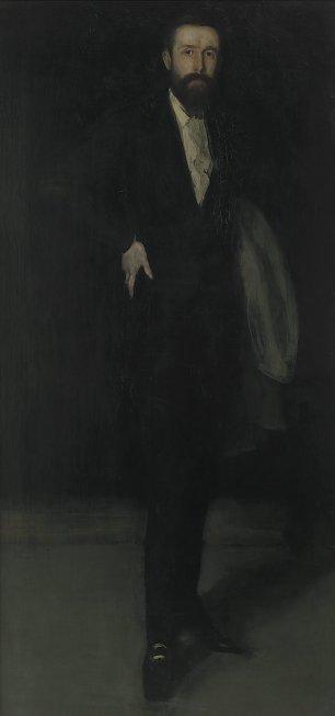 James McNeil Whistler Arrangement in Black Portrait of F R Leyland Wandbild