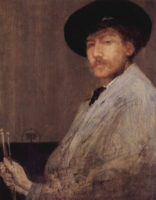 James McNeil Whistler Arrangement in Grau Portraet des Kuenstlers Wandbild