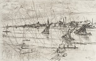 James McNeil Whistler Battersea Reach Wandbild