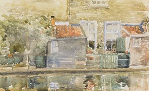 James McNeil Whistler Canal scene in Holland Wandbild