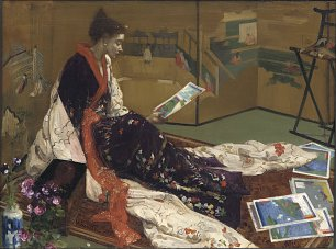 James McNeil Whistler Caprice in Purple and Gold The Golden Screen Wandbild