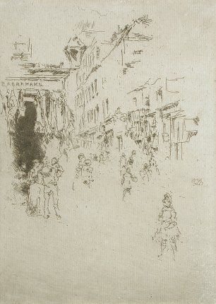 James McNeil Whistler Cutler Street Hounsditch Wandbild